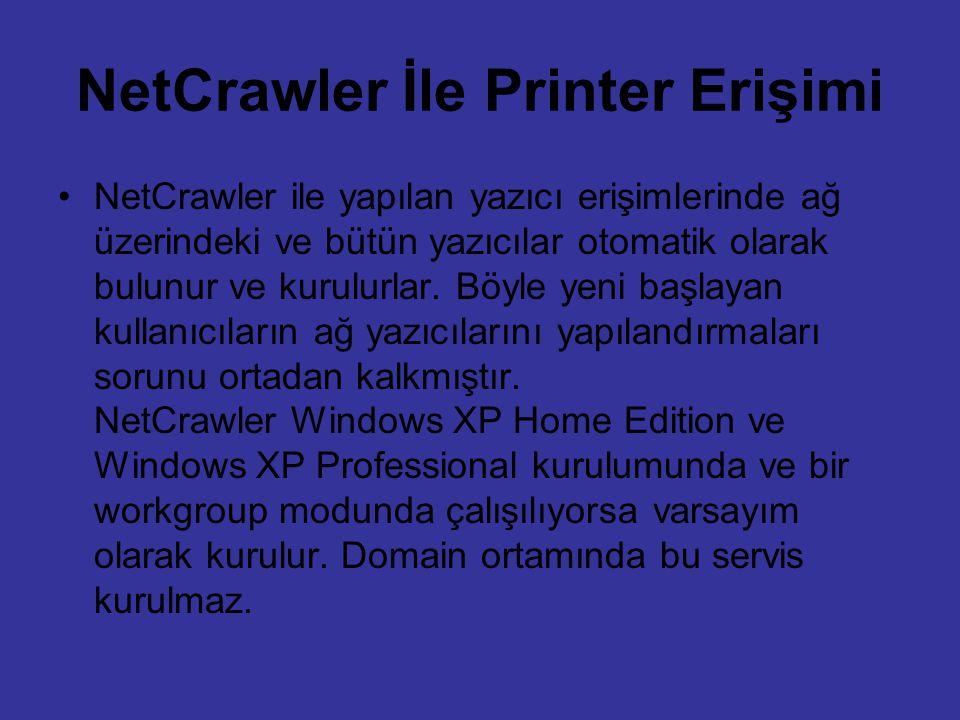 NetCrawler İle Printer Erişimi