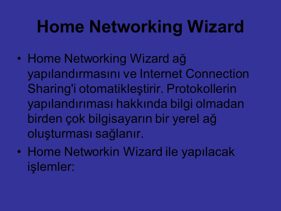 Home Networking Wizard