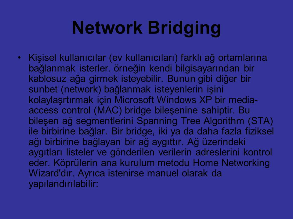 Network Bridging