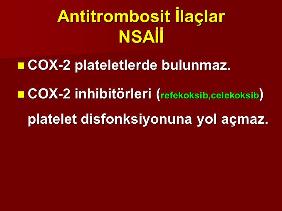 Antitrombosit İlaçlar NSAİİ