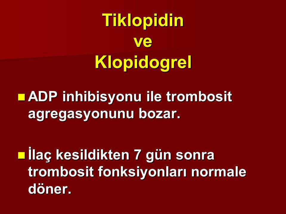 Tiklopidin ve Klopidogrel