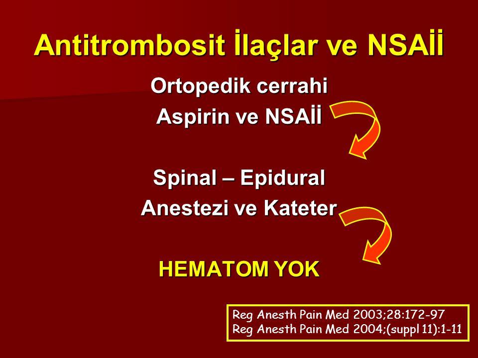 Antitrombosit İlaçlar ve NSAİİ