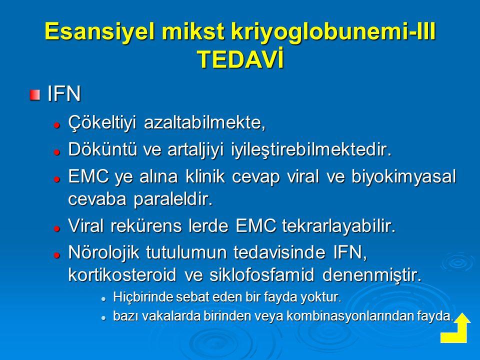 Esansiyel mikst kriyoglobunemi-III TEDAVİ