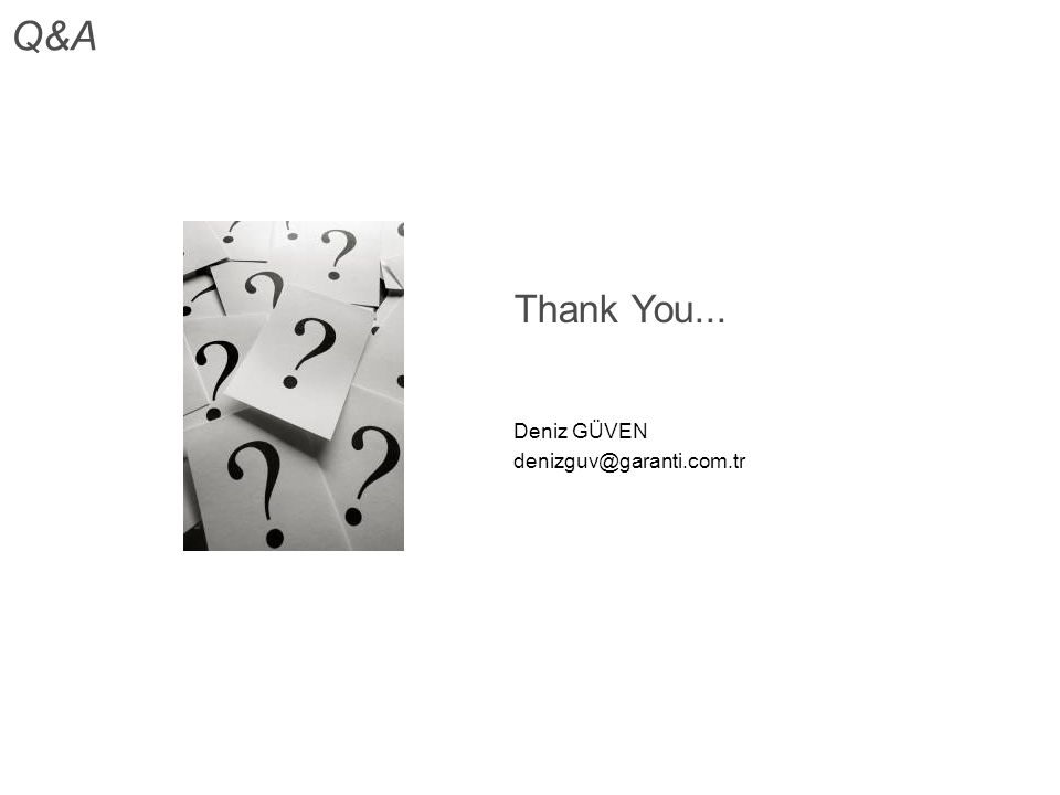 Q&A Thank You... Deniz GÜVEN