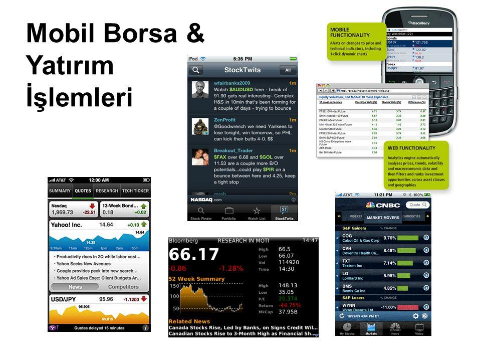 Mobil Borsa & Yatırım İşlemleri