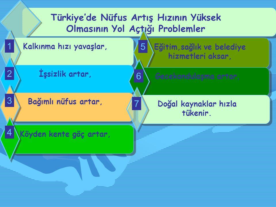Türkiye'de Nüfus Artış Hızının Yüksek Olmasının Yol Açtığı Problemler