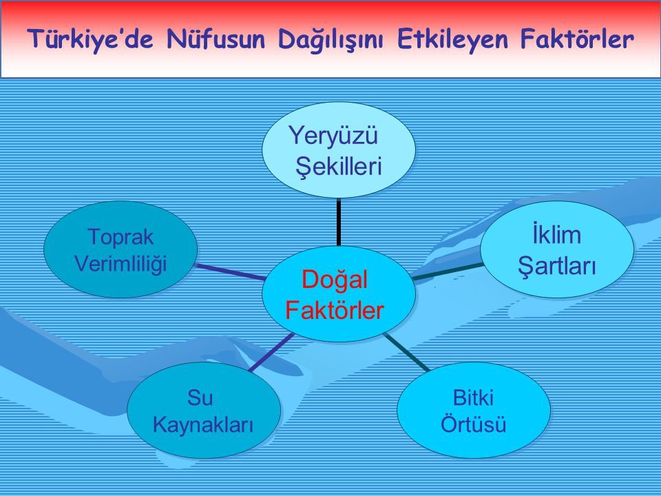 Türkiye'de Nüfusun Dağılışını Etkileyen Faktörler