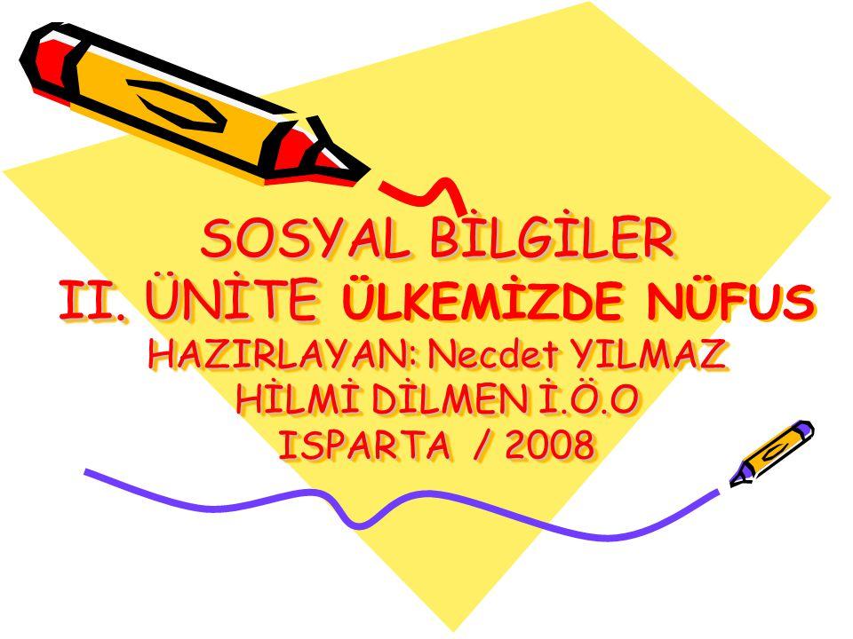 SOSYAL BİLGİLER II.