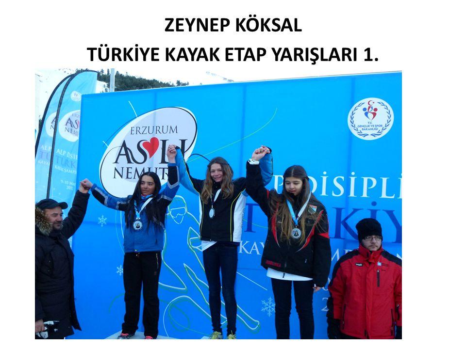 ZEYNEP KÖKSAL TÜRKİYE KAYAK ETAP YARIŞLARI 1.