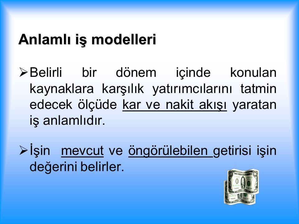 Anlamlı iş modelleri