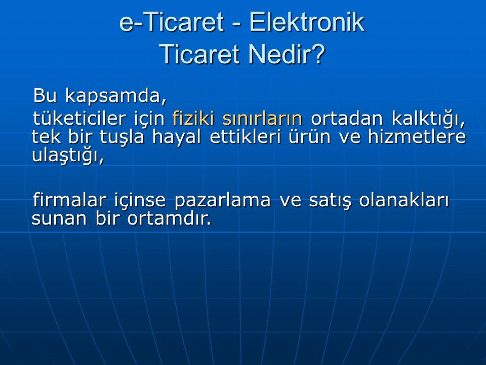 e-Ticaret - Elektronik Ticaret Nedir