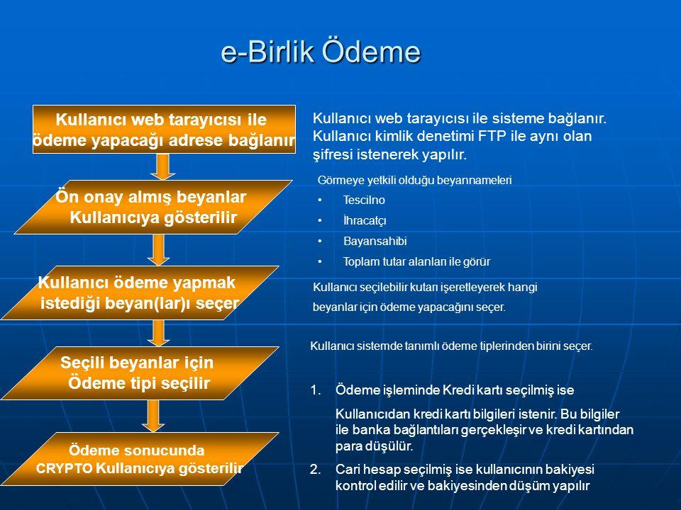 e-Birlik Ödeme Kullanıcı web tarayıcısı ile