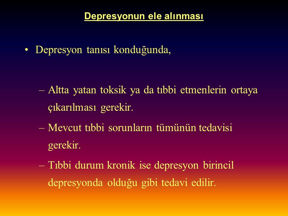 Depresyonun ele alınması