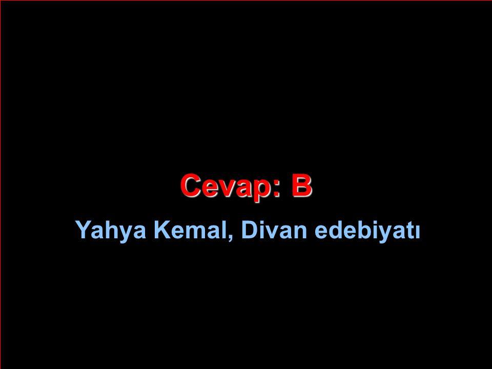 Yahya Kemal, Divan edebiyatı