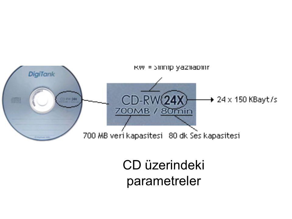 CD üzerindeki parametreler