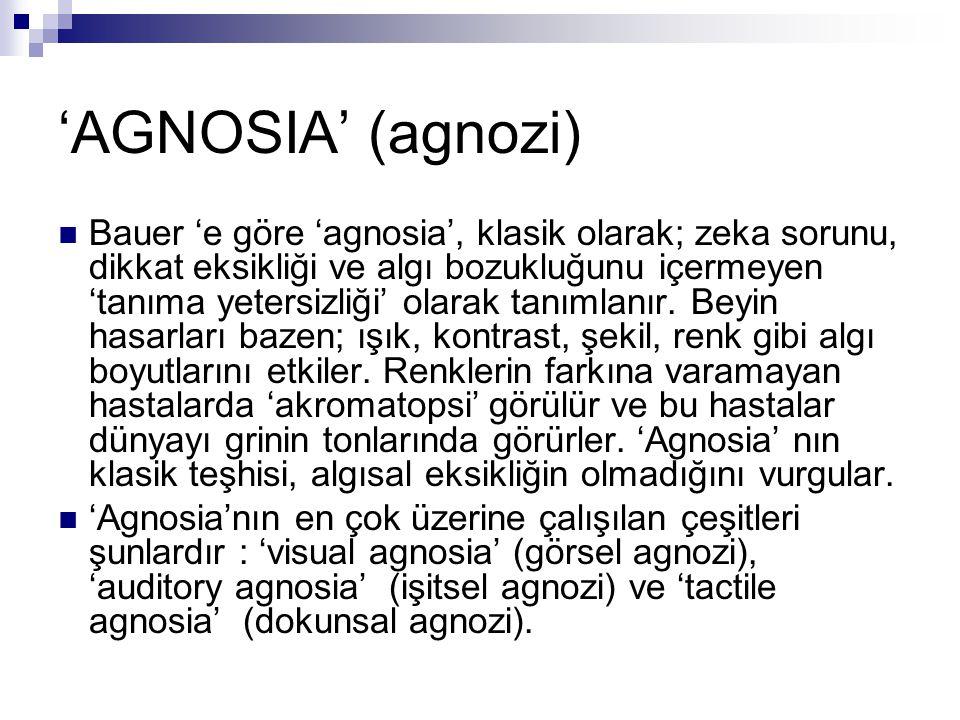 'AGNOSIA' (agnozi)