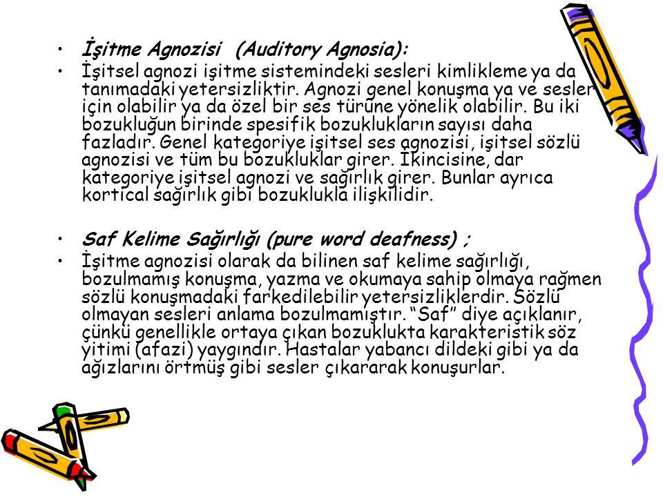 İşitme Agnozisi (Auditory Agnosia):