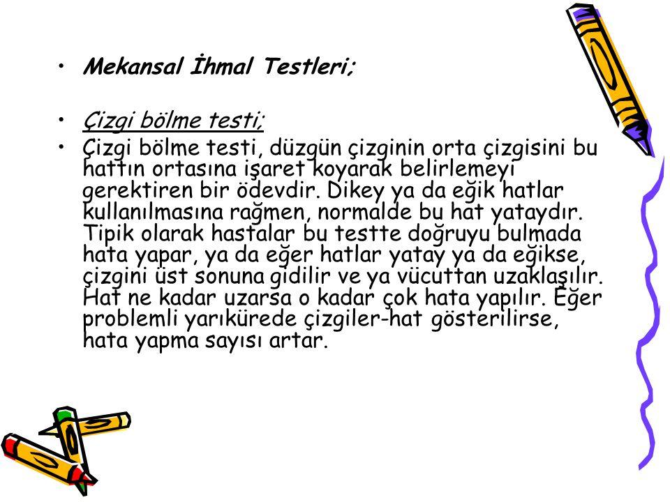 Mekansal İhmal Testleri;