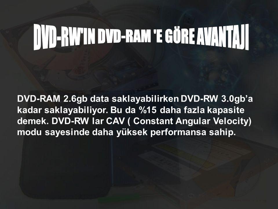 DVD-RW IN DVD-RAM E GÖRE AVANTAJI
