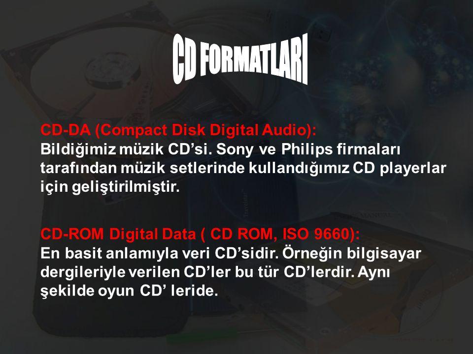 CD FORMATLARI