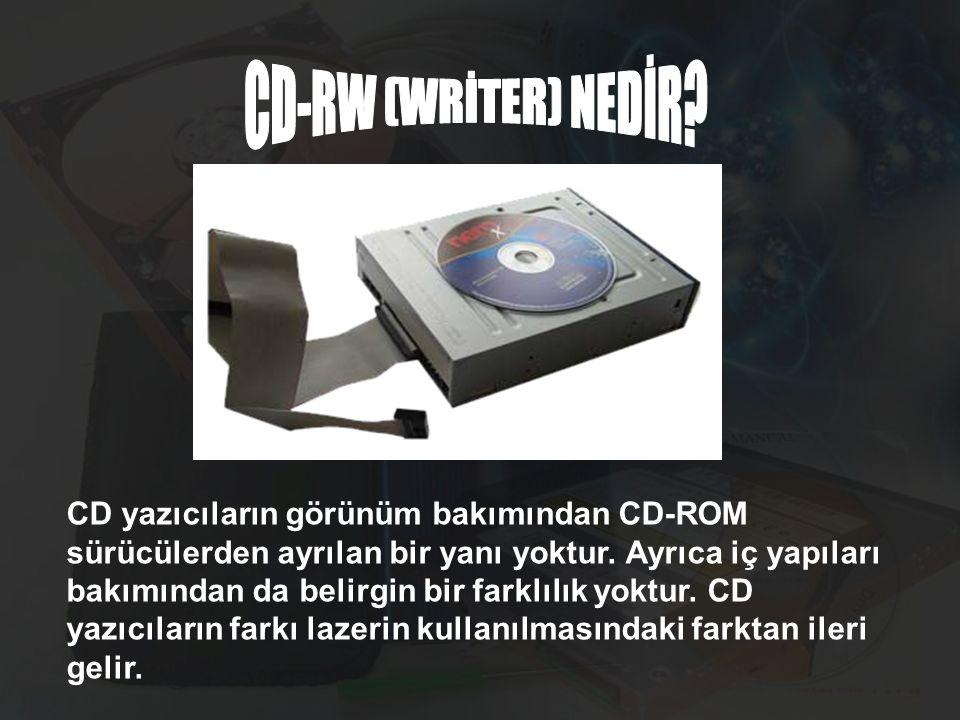 CD-RW (WRİTER) NEDİR