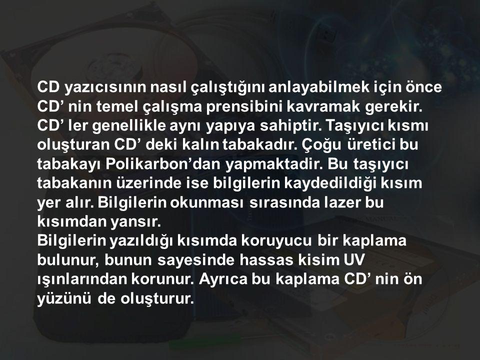 CD yazıcısının nasıl çalıştığını anlayabilmek için önce CD' nin temel çalışma prensibini kavramak gerekir.