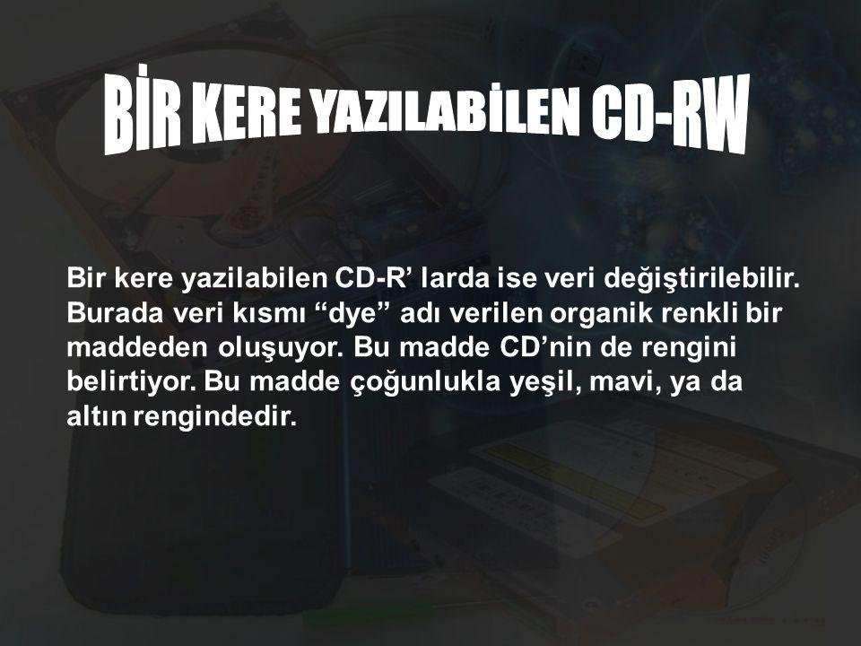 BİR KERE YAZILABİLEN CD-RW