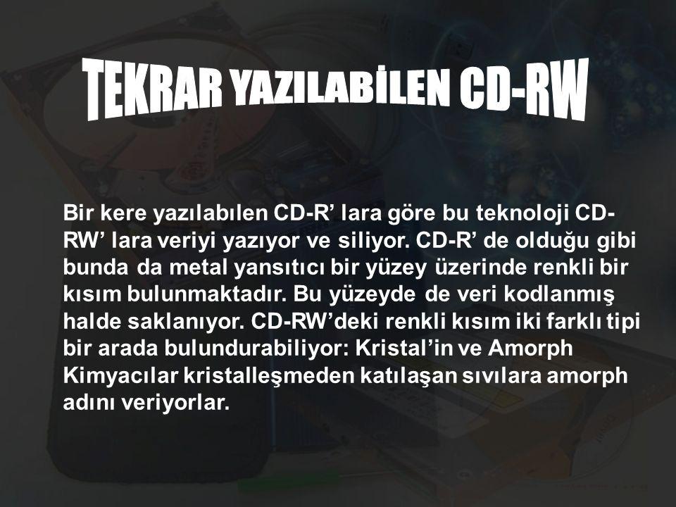 TEKRAR YAZILABİLEN CD-RW