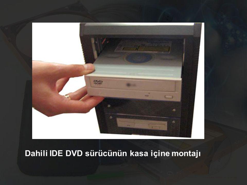 Dahili IDE DVD sürücünün kasa içine montajı