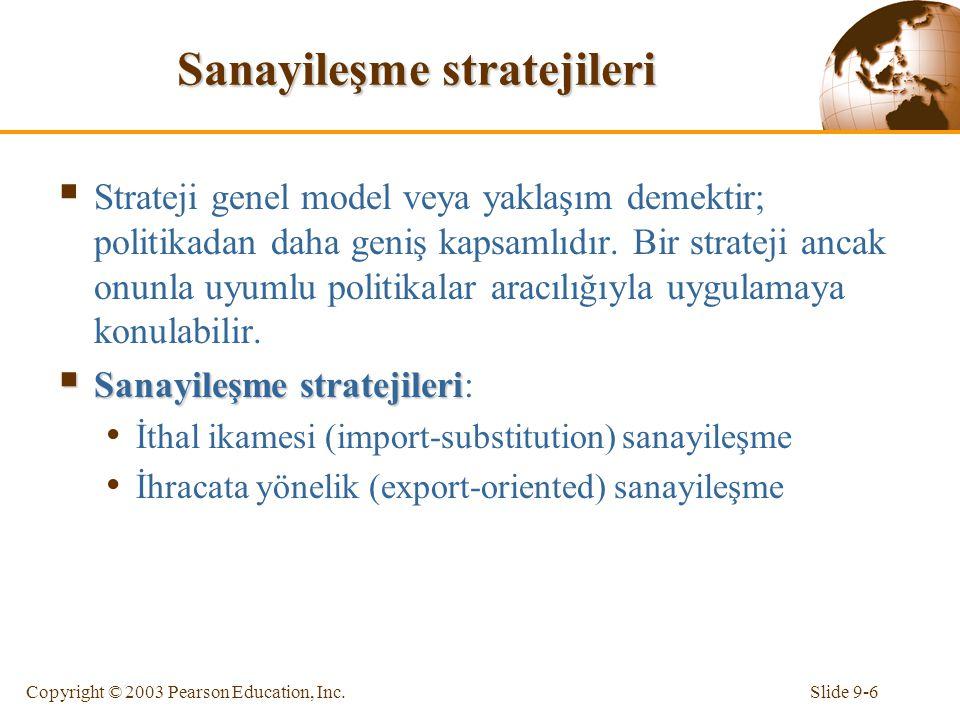 Sanayileşme stratejileri