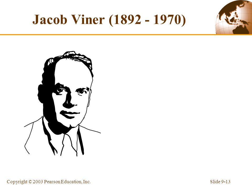Jacob Viner ( ) Copyright © 2003 Pearson Education, Inc.