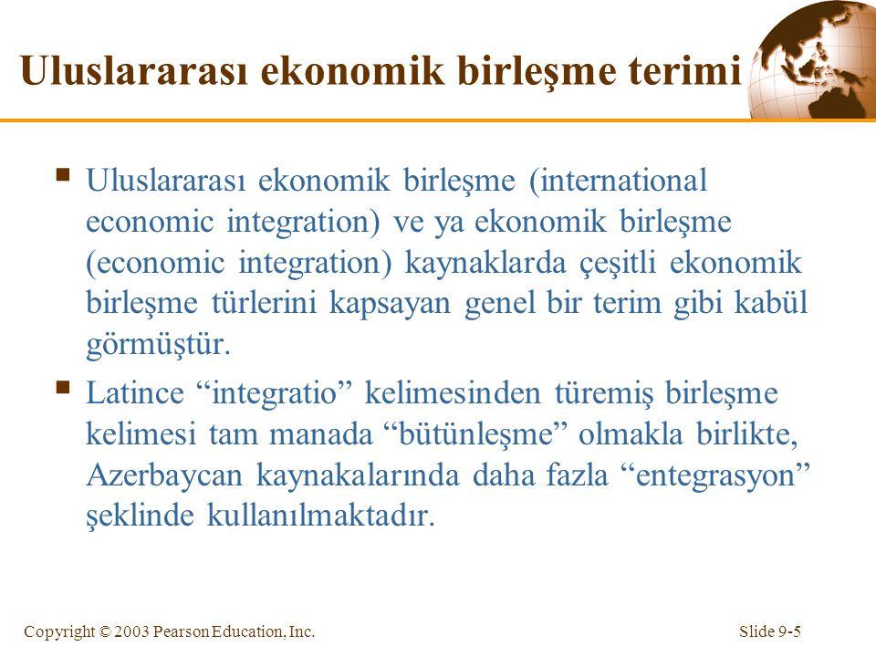 Uluslararası ekonomik birleşme terimi