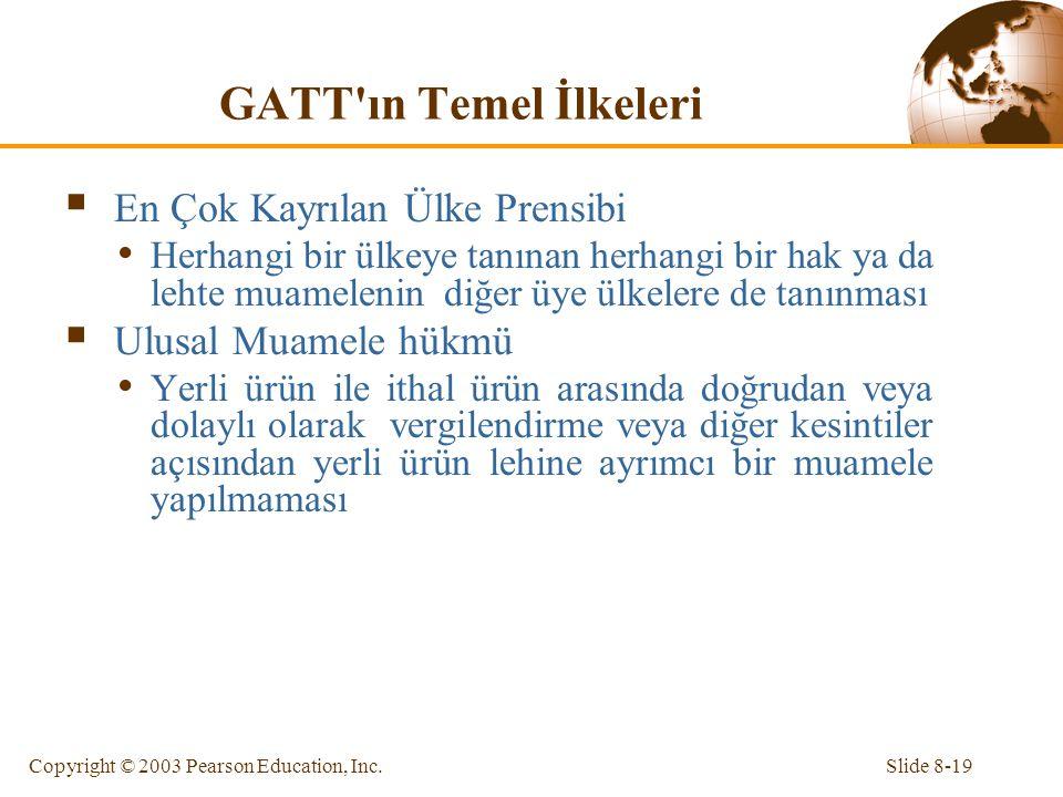 GATT ın Temel İlkeleri En Çok Kayrılan Ülke Prensibi