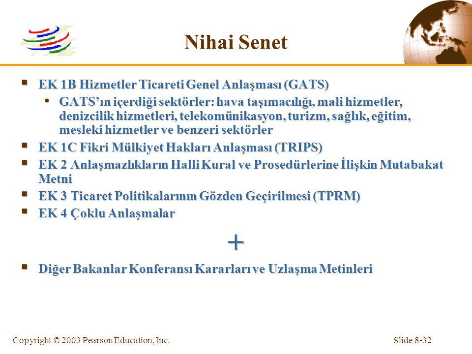 + Nihai Senet EK 1B Hizmetler Ticareti Genel Anlaşması (GATS)