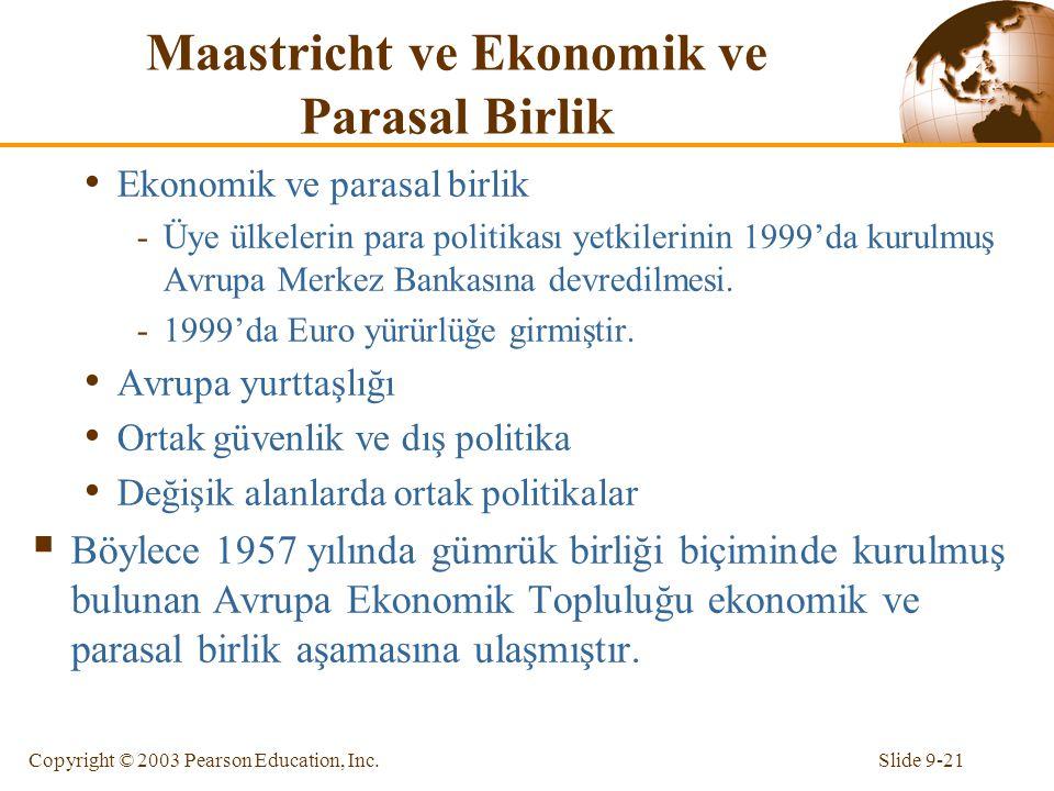 Maastricht ve Ekonomik ve Parasal Birlik