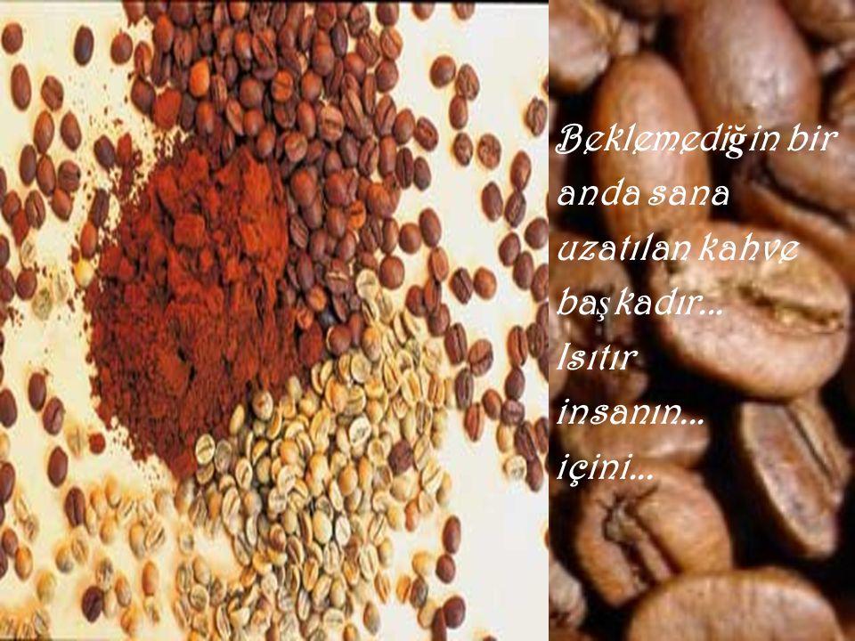 Beklemediğin bir anda sana uzatılan kahve başkadır... Isıtır insanın... içini...