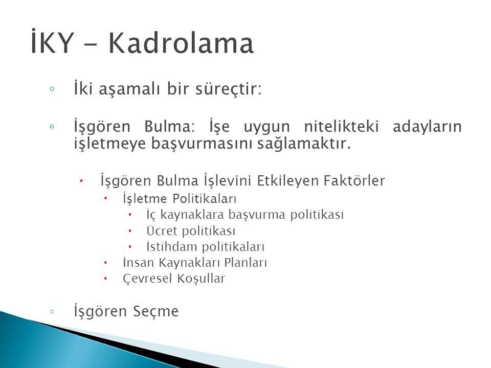 İKY - Kadrolama İki aşamalı bir süreçtir: