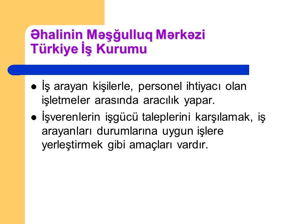 Əhalinin Məşğulluq Mərkəzi Türkiye İş Kurumu