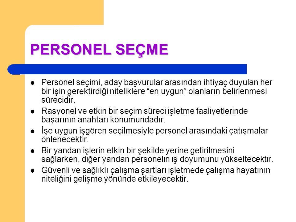 PERSONEL SEÇME