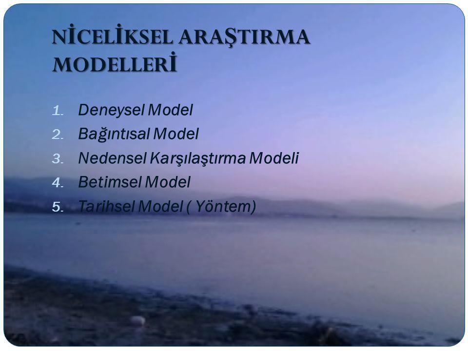 NİCELİKSEL ARAŞTIRMA MODELLERİ