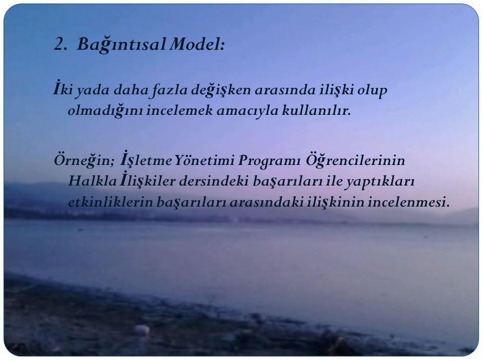 2. Bağıntısal Model: