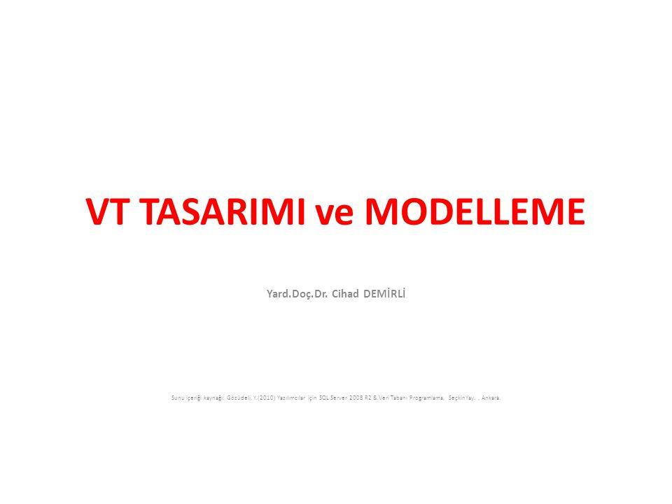 VT TASARIMI ve MODELLEME