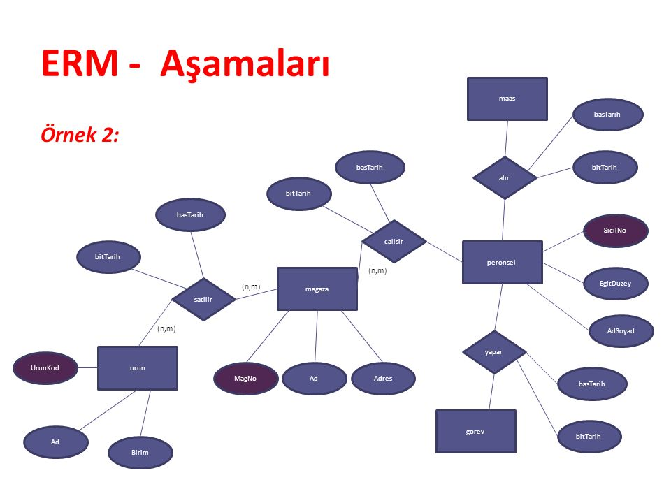 ERM - Aşamaları Örnek 2: (n,m) (n,m) (n,m) maas basTarih basTarih