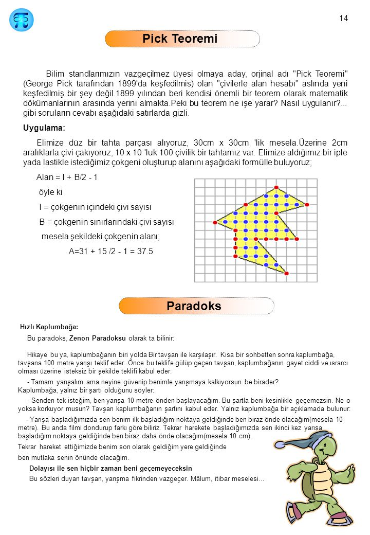 14 Pick Teoremi
