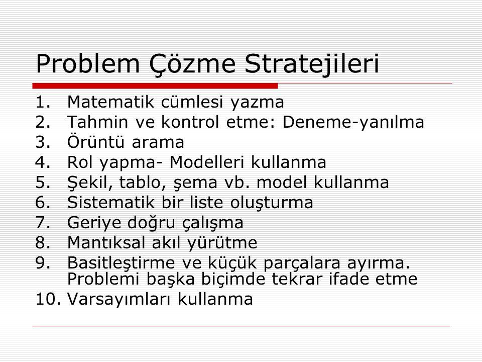 Problem Çözme Stratejileri