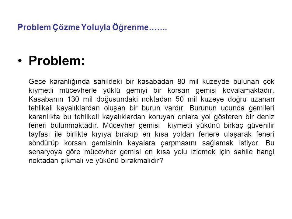 Problem Çözme Yoluyla Öğrenme…….
