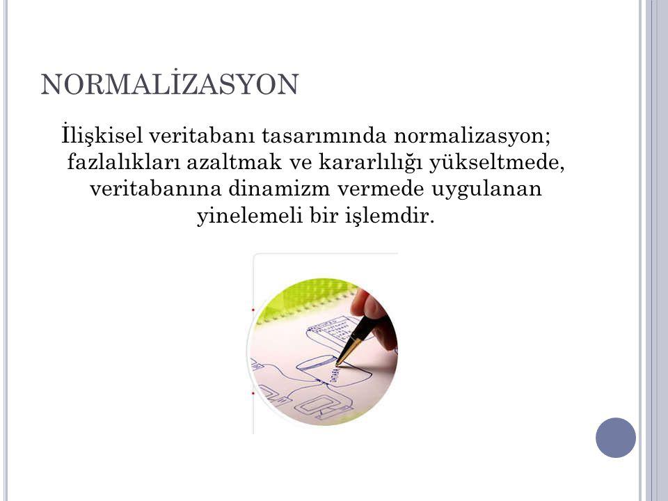 NORMALİZASYON