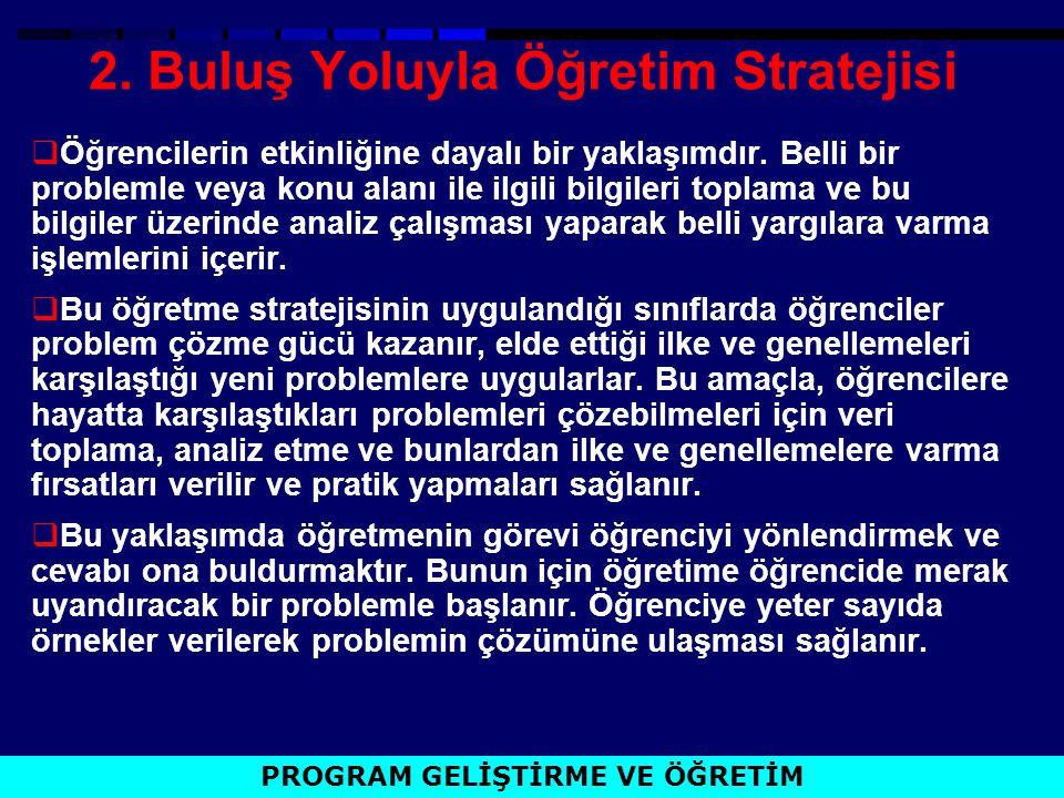 2. Buluş Yoluyla Öğretim Stratejisi