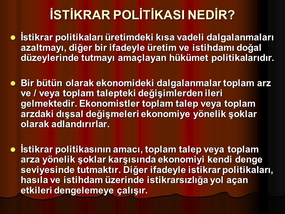 İSTİKRAR POLİTİKASI NEDİR