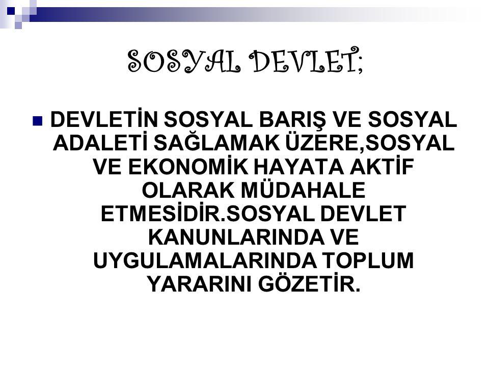 SOSYAL DEVLET;